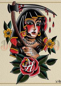 Reaper Girl Print